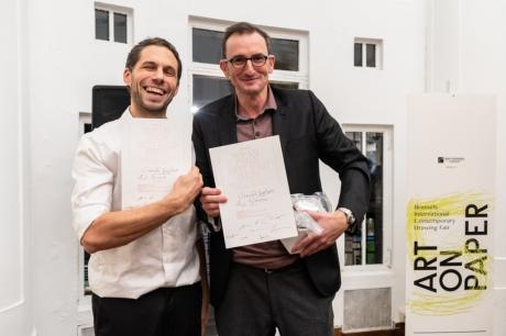 SOFAM - Vincent Geyskens, avec LA SIMONIE, lauréat du Prix SOFAM Meilleure Exposition à Art on Paper